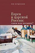 Лев Бердников -Евреи в царской России. Сыны или пасынки?