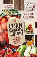 Галина Кизима -Соки, компоты, сиропы. Лучшие рецепты напитков из вашего урожая