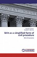 Николай Камзин -Writ as a simplified form of civil procedure. Writ of execution