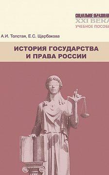 Анна Толстая - История государства и права России. Учебное пособие