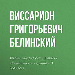Виссарион Белинский - Жизнь, как она есть. Записки неизвестного, изданные Л. Брантом…