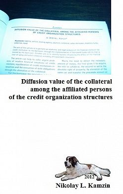 Николай Камзин - Diffusion value of the collateral among the affiliated persons of the credit organization structures