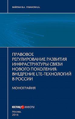 Константин Гузанов - Правовое регулирование развития инфраструктуры связи нового поколения. Внедрение LTE-технологий в России