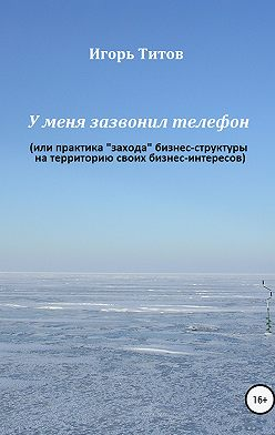 Игорь ТИТОВ - У меня зазвонил телефон, или Практика «захода» бизнес-структуры на территорию своих бизнес-интересов