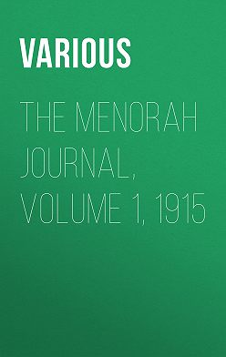 Various - The Menorah Journal, Volume 1, 1915
