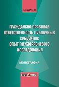 И. Е. Кабанова - Гражданско-правовая ответственность публичных субъектов: опыт межотраслевого исследования