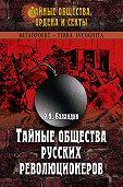 Рудольф Баландин -Тайные общества русских революционеров