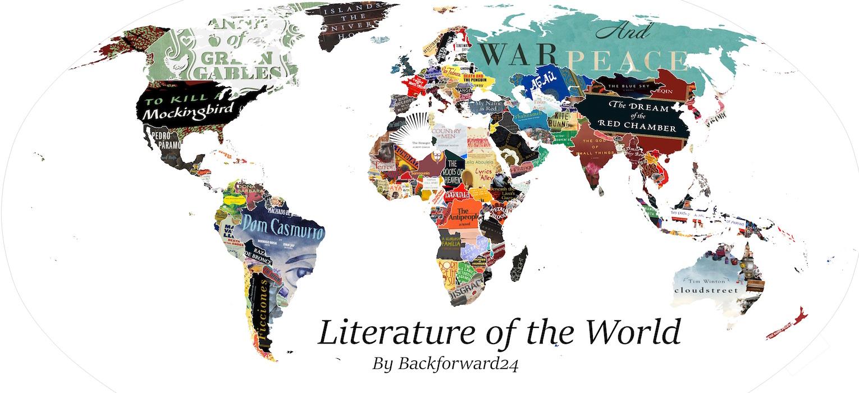 Книжная карта мира