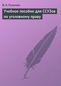 Валерий Кузьмин -Учебное пособие для ССУЗов по уголовному праву