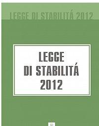 Italia - Legge di stabilità 2012