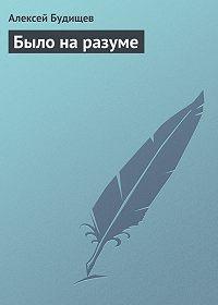 Алексей Будищев -Было на разуме