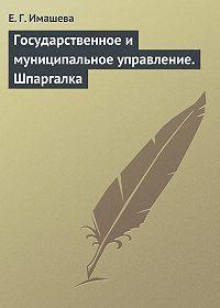 Е. Г. Имашева -Государственное и муниципальное управление. Шпаргалка