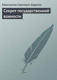 Константин Бадигин -Секрет государственной важности