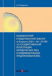 А. Н. Борисов -Комментарий к Федеральному Закону от 8 августа 2001 г. №129-ФЗ «О государственной регистрации юридических лиц и индивидуальных предпринимателей» (постатейный)