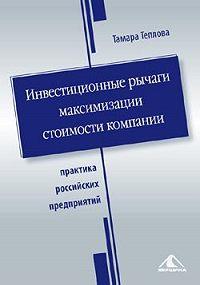 Тамара Теплова -Инвестиционные рычаги максимизации стоимости компании. Практика российских предприятий