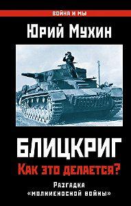 Юрий Мухин -Блицкриг: как это делается? Секрет «молниеносной войны»
