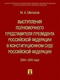 Михаил Митюков - Выступления полномочного представителя Президента РФ в Конституционном суде (2004-2005 гг)