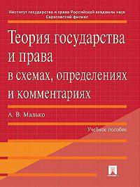 Александр Малько - Теория государства и права в схемах, определениях и комментариях. Учебное пособие