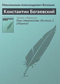 Максимилиан Александрович Волошин -Константин Богаевский