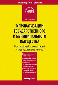 Л. Е. Калинина -Комментарий к Федеральному закону «О приватизации государственного и муниципального имущества» (постатейный)