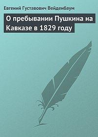 Евгений Вейденбаум -О пребывании Пушкина на Кавказе в 1829 году