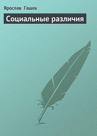 Ярослав  Гашек -Социальные различия