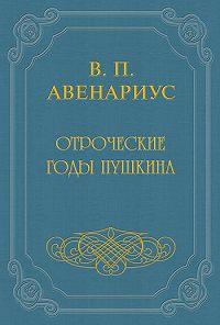 Василий Авенариус -Отроческие годы Пушкина