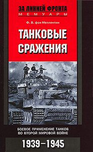 Фридрих Вильгельм фон Меллентин -Танковые сражения. Боевое применение танков во Второй мировой войне. 1939-1945