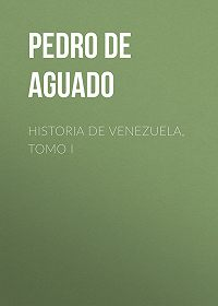 Pedro Aguado -Historia de Venezuela, Tomo I