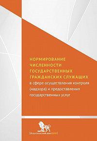 Коллектив авторов - Нормирование численности государственных гражданских служащих с сфере осуществления контроля (надзора) и предоставления государственных услуг
