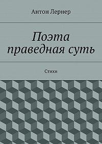 Антон Лернер -Поэта праведнаясуть. Стихи