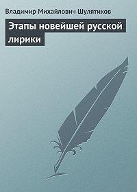 Владимир Шулятиков -Этапы новейшей русской лирики