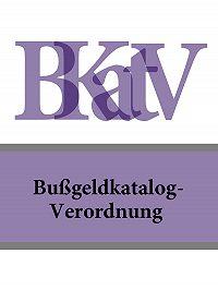 Deutschland -Bußgeldkatalog-Verordnung – BKatV