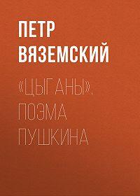 Петр Андреевич Вяземский -«Цыганы». Поэма Пушкина