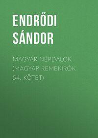 Sándor Endrődi -Magyar népdalok (Magyar remekirók 54. kötet)
