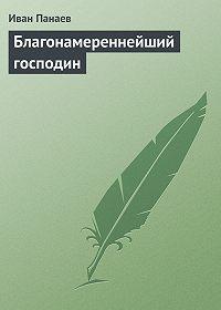 Иван Панаев - Благонамереннейший господин