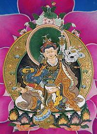 Падмасамбхава -Направив посох на старика