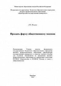 Лариса Ильина - Придать форму общественному мнению
