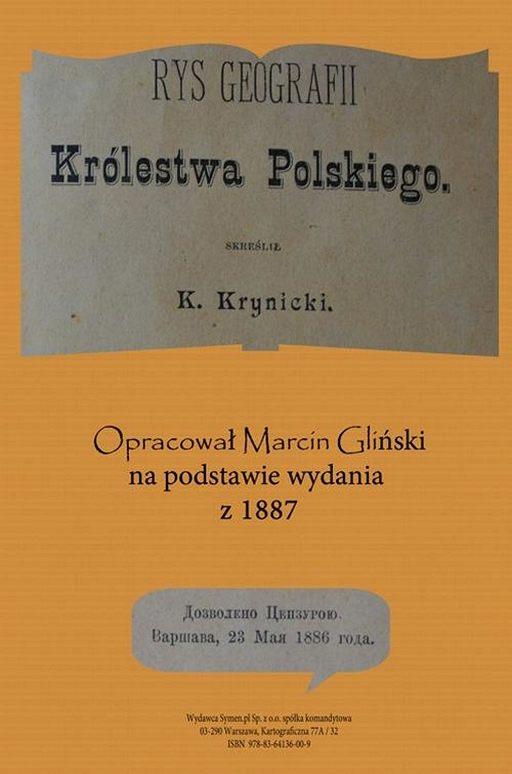 Rys geografii Królestwa Polskiego 1887 opracowanie